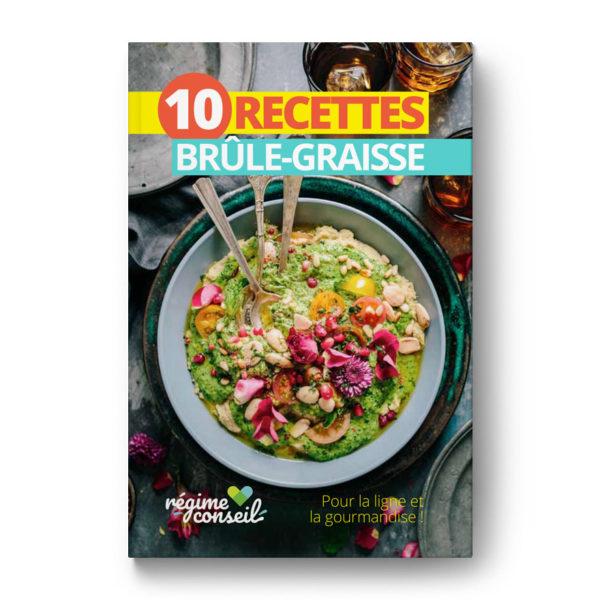 Couverture ebook recettes brûle-graisse