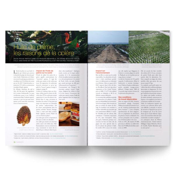 Numéro 13 anniversaire : l'huile de palme, impact sur la santé et l'environnement