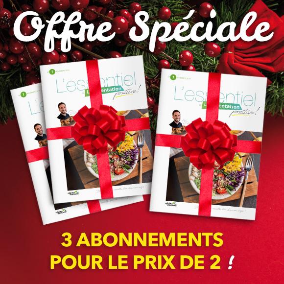 Idée cadeaux : Abonnements magazine 3 pour 2 (2 achetés, le 3e offert) – Offre spéciale Noël
