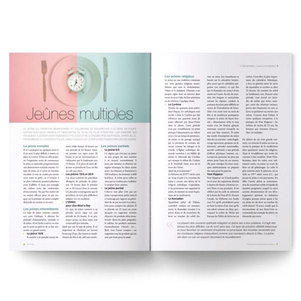 Magazine L'Essentiel de l'alimentation positive – numéro spécial sur les différents types de jeûnes