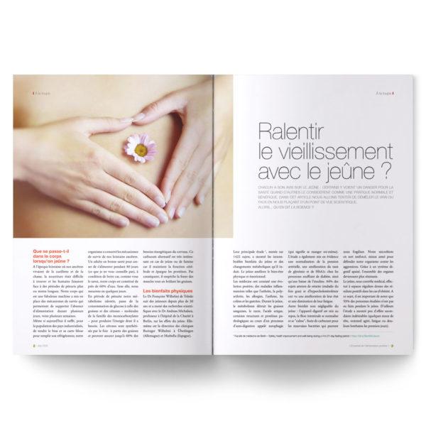 Magazine L'Essentiel de l'alimentation positive – Les bienfaits du jeûne
