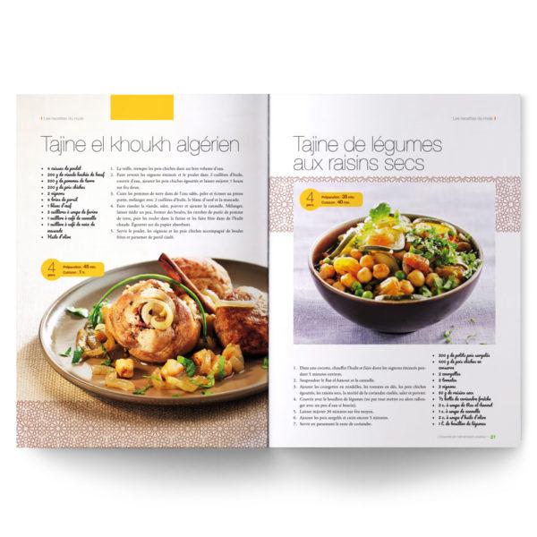 Magazine L'Essentiel de l'alimentation positive – Recettes du sud (tajine, couscous, houmous, taboulé...)