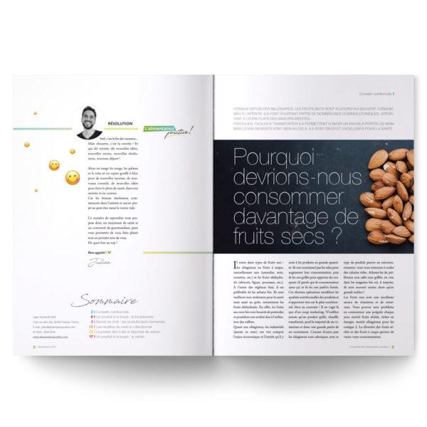 Alimentation Positive – numéro de septembre du magazine