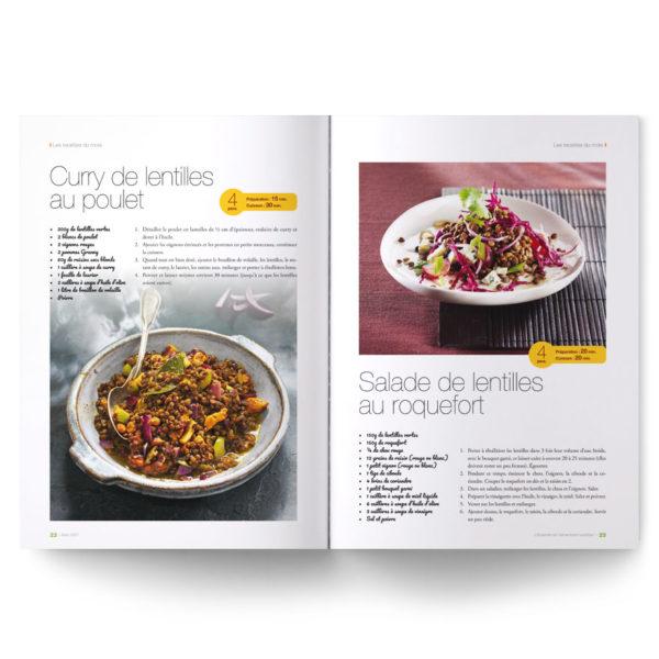 Magazine spécial lentilles : cuisson, recettes, bienfaits nutritionnels...